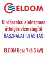 ELDOM Beta 7 használati utasítás