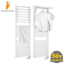 Deltacalor DINAMIC Plus 750 Watt elektromos törölközőszárítós radiátor - nyitható radiátor taggal (fehér)