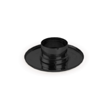 Takaró rozetta tömítőgyűrűvel - fekete (80 mm)