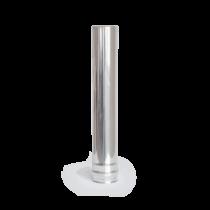80 x 500 mm rozsdamentes pellet kályha füstcső - fémszínű (80 mm)