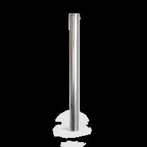80 x 1000 mm rozsdamentes pellet kályha füstcső - fémszínű (80 mm)