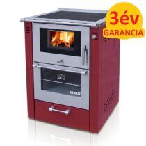 SENKO SG-60 (7,5 kW) vegyestüzelésű sparherd kazán beépített sütővel (bordó színű)