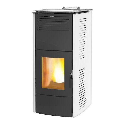 Centrometal CentroPelet ZV16 (16,1 kW) meleg levegős és vízteres pelletkandalló, pelletkályha (fehér)
