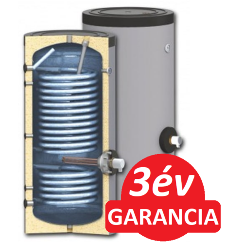 SUNSYSTEM SWP 2N 400 indirekt használati meleg víz tartály hőszivattyúhoz (400 liter) - 2 hőcserélővel