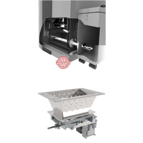 Automatikus működésű mechanikus tüzelő rostély tisztítás és hamu kitárolás külső tartályba CentroPelet ZVB 16/20/24/32 kazánhoz