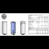 ELDOM Style D 50 literes zománcozott elektromos vízmelegítő száraz fűtőbetéttel (1,5 kW - 387 mm Ø)