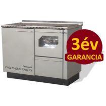 Centrometal BIO-PEK B 23 központi fűtési rendszerre köthető sparherd (balos)
