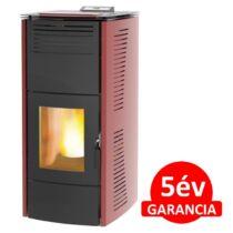 Centrometal CentroPelet ZV16 (16,1 kW) meleg levegős és vízteres pelletkandalló, pelletkályha (bordó)