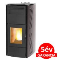 Centrometal CentroPelet ZV16 (16,1 kW) meleg levegős és vízteres pelletkandalló, pelletkályha (szürke)