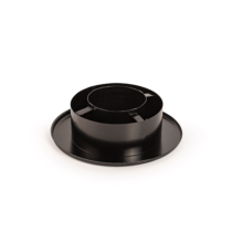 130/80 Rozsdamentes szűkítő és rozetta (fekete)