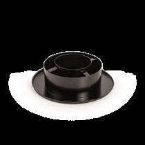 120/80 Rozsdamentes szűkítő és rozetta (fekete)