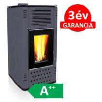 SENKO P-12 WATER+AIR MODERN meleg levegős és vízteres pellet kályha üvegajtóval (antracit)