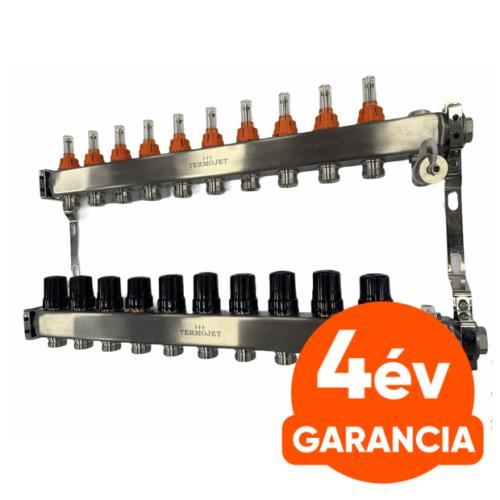 TermoJET 10 körös rozsdamentes osztó-gyűjtő áramlásmérővel